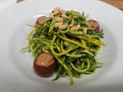 raw zucchini pesto
