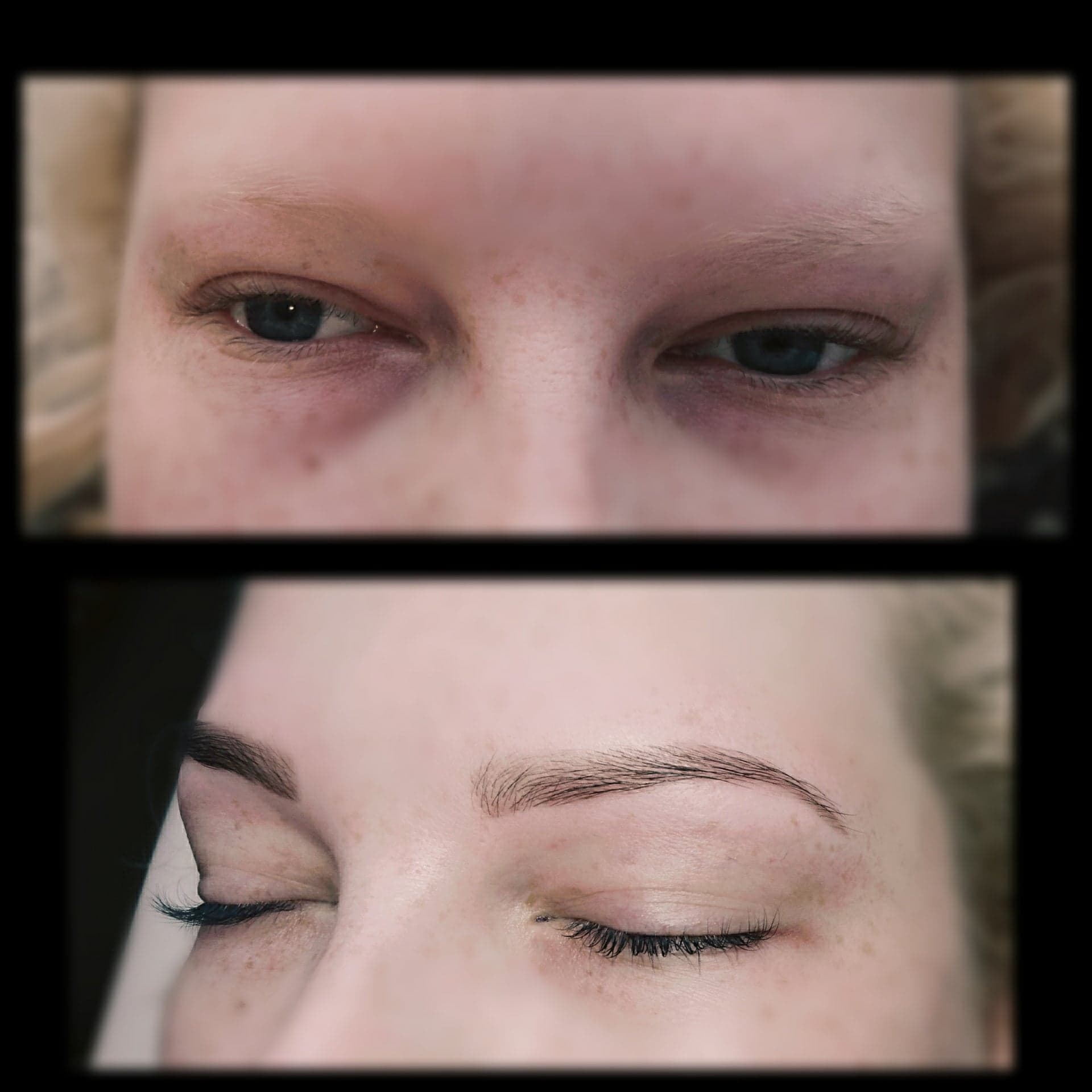 Complete brow shape and tint