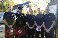Emsworth fire fighters and police