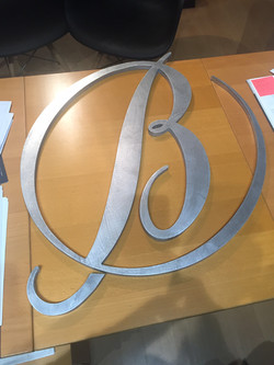 Usinage aluminium logo