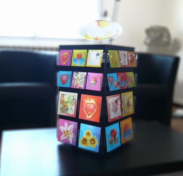 Porte carte cube