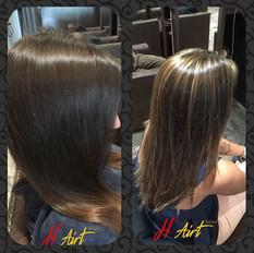 Hair art! Simple full head highlights Co