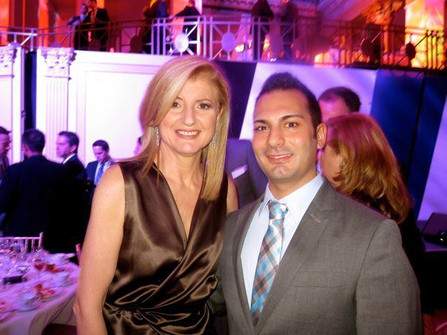 Arianna Huffington and I