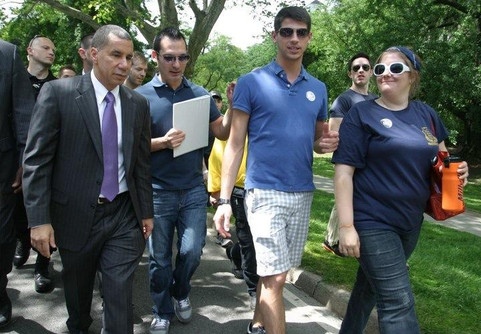 Briefing Governor Paterson on AIDS Walk