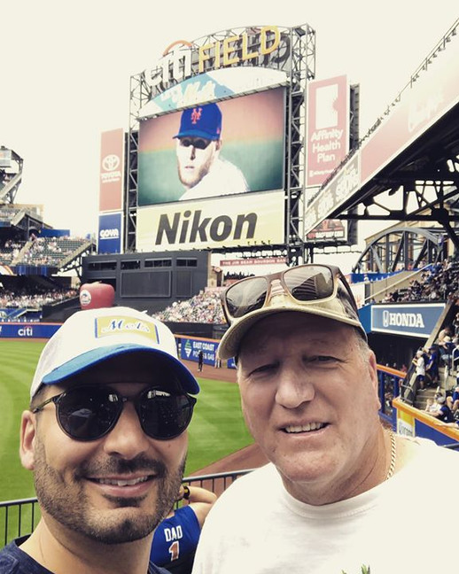 Dad and me at the Mets game