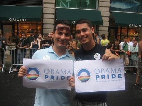Marching for Barack Obama in NYC Pride