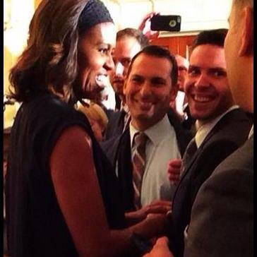 With Michelle Obama at the White House