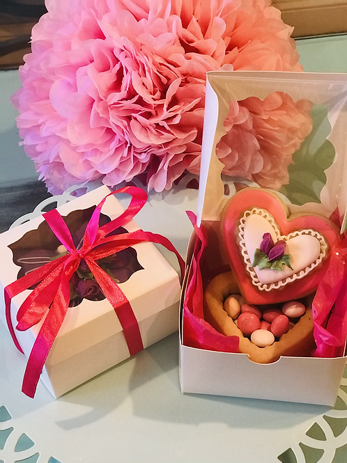 Valentine's Cookie Box, chocolate filled pre-order