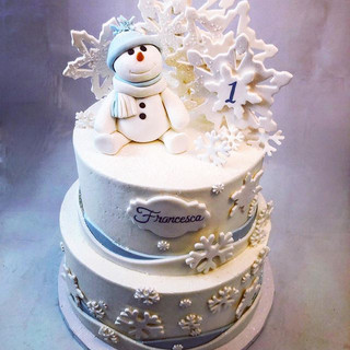 A cake fit for today's winter wonderland