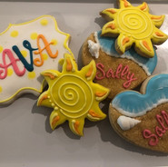beach day cookies