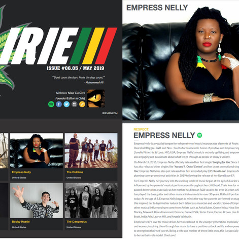 Royal Love EP featured in the May 2019 Edition of Irie Mag! Love and Gratitude! ❤️🖤💚❤️💛💚