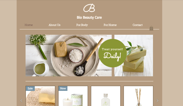 Online Store website templates –  Beauty Care