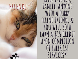 New! Refer a feline friend!
