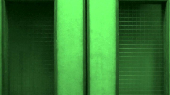 Looped night vision footage of Freud's personal lift at the Freud Museum London, 2014
