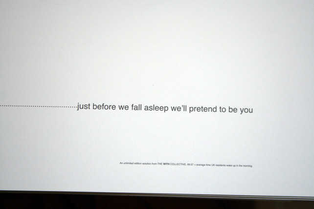 Sleeping on Your Behalf, WITH. 2011