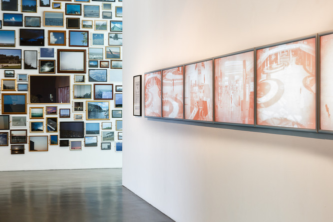 Installation view of False Memory Archive exhibition.