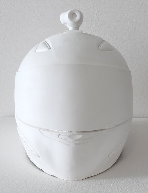 Plastercast Helmetcam: Limited Edition sculpture by A.R. Hopwood