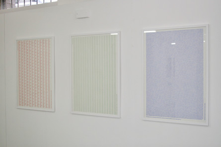 (Left to Right) Don't Like/Like, Run/Don't Run, Binary Sex Act, 2010. WITH