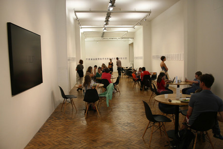 Café (moved into the gallery), WITH. 2011