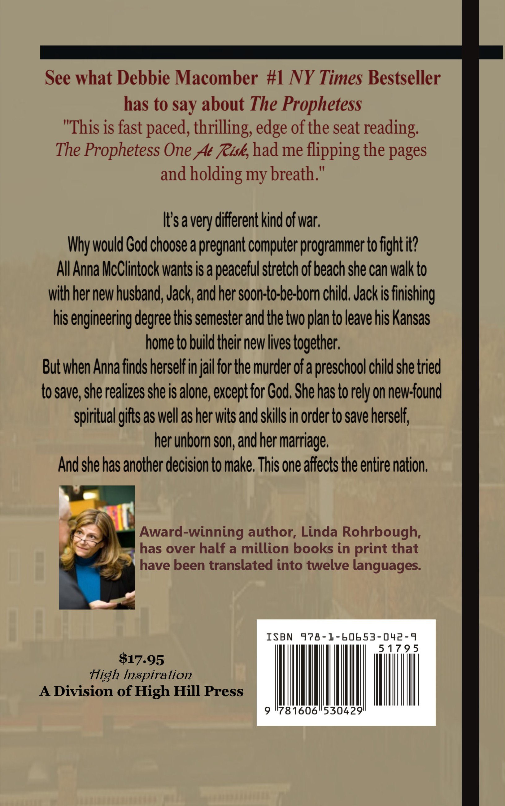 Prophetess One At Risk back cover