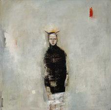 Grey, 2016, oil on canvas, 48 x 48