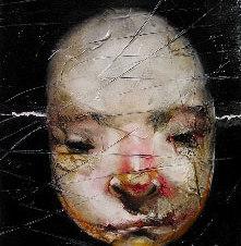 """Gabal Oil on paper 11 x 7.5"""""""