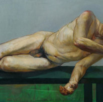"A Friend's Arm Oil on canvas 38 x 51"""