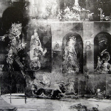 Venice Monotype on paper 29 x 26""