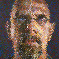 "Self-Portrait 55/80 Screenprint in 203 colors 75.5 x 57.75"" CHC 1046"