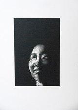 "Headshot Series: Monotype 54 Monotype with oil 15 x 11"""