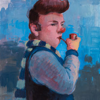 "Prep School Brett Acrylic on panel 24 x 18"""
