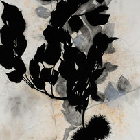 """Lead Tree, August 2 Charcoal, earth, graphite, gesso, mica, wax 52 x 35.5"""" SD 1032"""