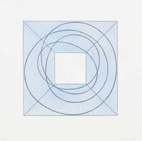 """Framed Square with Open Center B Softground and aquatint etching 27.25 x 27"""""""