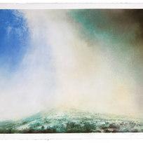 """September 19, 2000 Dry pigment on paper 30 x 22"""" LAG 1076"""