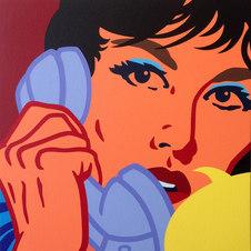"""The Annunication (Var. 5) Acrylic on canvas 24 x 24"""" KTK 1061"""