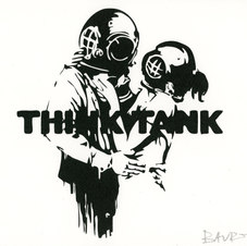 Think Tank, ed. 2/200, Lithograph, Paper: 8.3 x 11.4""