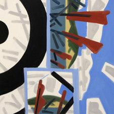 "Paumanok Reeds #1 Oil on canvas 48 x 48"" GBT 1020"
