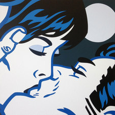 "Nocturne (Var. 2) Acrylic on canvas 24 x 24"" KTK 1126"
