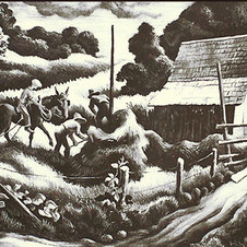 "Haystacks Lithograph 10.25 x 12.75"" THB 1023"