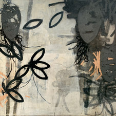 "Three Sisters Mixed media on canvas 72 x 84"" JOC 1002"