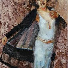 """Diva Oil on paper 35 x 28"""""""