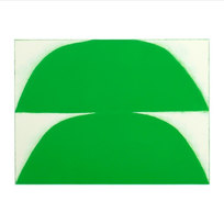 "Double Form, Green. #03-19-05 Unique Print. Oil Monotype on Rives BFK paper 27.5 x 30.25"" paper dimensions 18 x 24"" image dimensions BM 1017"