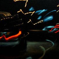 "Night Series No. 97 Oil on canvas 10 x 10"" MXM 1024"