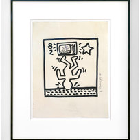 "Untitled (82), 1982, Marker on paper, Paper: 14 x 10 7/8"" Frame: 22 1/8 x 18 7/8"""