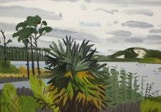 """Graton Beach FL, After the Rain Oil on canvas 24 x 48"""" GBT 1002"""