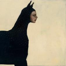 """Bastet (2) Oil on Canvas 30 x 30"""" MML 1059"""