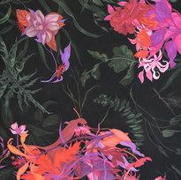 "Esta Selva Selvaggia No. 3 Pastel on black paper 122 x 47"" ZL 1026"