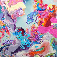 """Too Busy Being Fabulous Mixed media on canvas 60 x 36""""  KB 1031"""