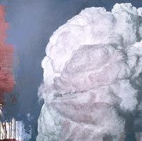 "Suspension (We are not romantics) Oil on canvas 48 x 72"" PR 1052"