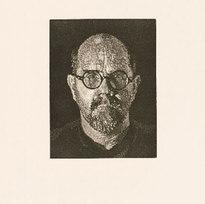 "S.P.1 69/70 Linoleum cut printed reductively 25.75 x 19.75"" CHC 1039"
